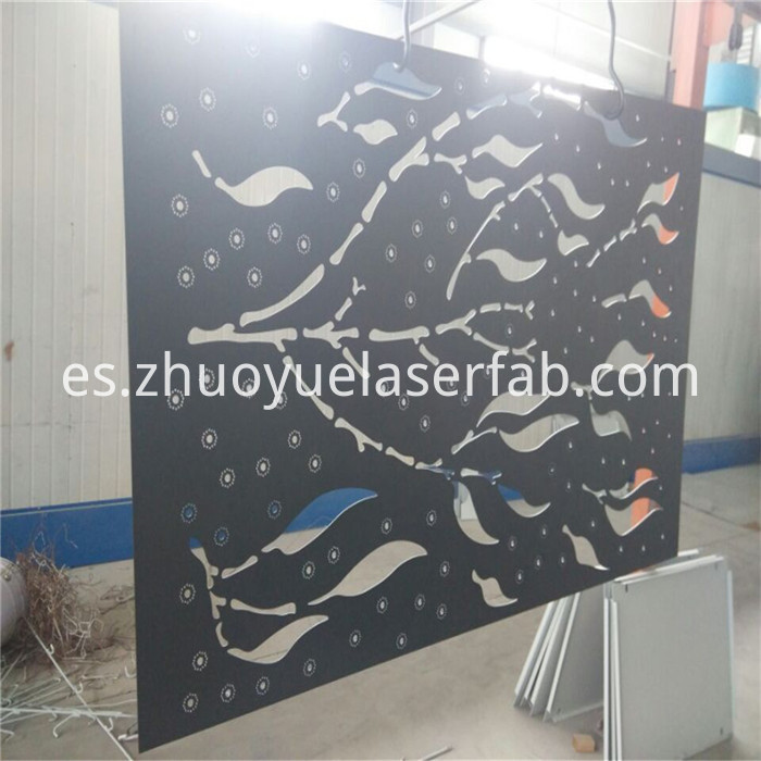 steel screen with powder coating